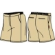 Girls Khaki Shorts (Summer)