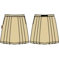 Khaki 6-Pleat Skirt (Summer & Winter)