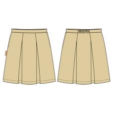 Khaki 2-Pleat Skirt (Summer & Winter)