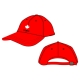 Red Baseball Cap (Summer & Winter)